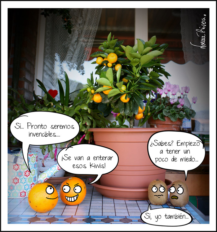 Futuro ejército de naranjas mutantes